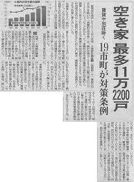 埼玉県川口市 草むしり屋 空家新聞記事1
