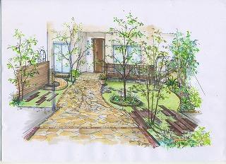 埼玉県川口市 草むしり屋 庭造り1