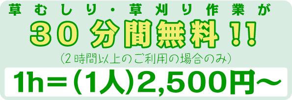 草むしり屋 2500円キャンペーン