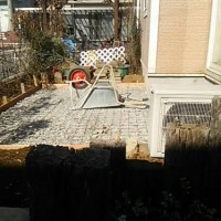 庭工事 庭リフォーム 駐車場 土間打ち