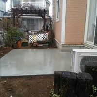 土間打ち コンクリート 庭リフォーム 便利屋