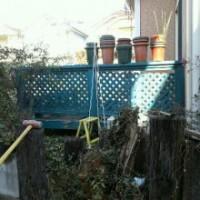 ウッドデッキ解体 不用品整理 庭のリフォーム