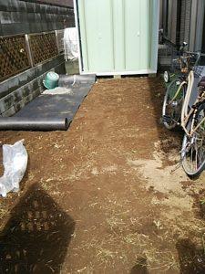砂利敷き 防草シート 草むしり 草刈り