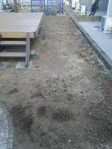蓮田市 上尾市 伊奈町 砂利敷き 庭リフォーム