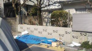 川口市 さいたま市 越谷市 草加市 外構工事 フェンス ブロック 危険 地震